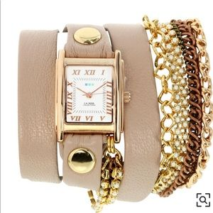 "La Mer ""St. Germain"" Leather Wrap Watch"